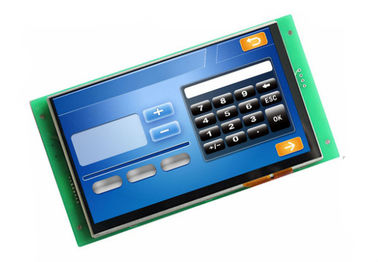 China 7 duim 800 * 480 Uart ontwierp Capacitief Touch screen met RS232/TTL-Interface voor Framboos Pi fabriek